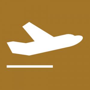 Bild eines startenden Flugzeugs